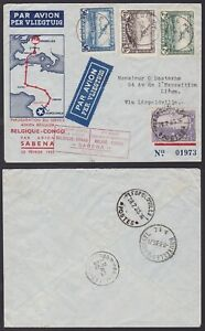 Belgium 1934 Airmail cover to AJACCIO Corse - AIR FRANCE First Flight.. ...A6833
