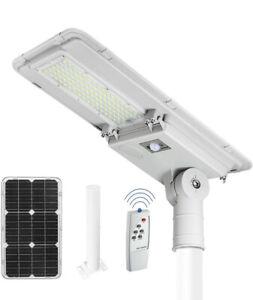 Minyuco Solar Street Lights Outdoor,100W Solar 6000K 100 LEDs Motion Detector