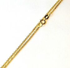 "New 18"" 1mm Solid 10K Yellow Gold Cable / Rolo  Chain Necklace"