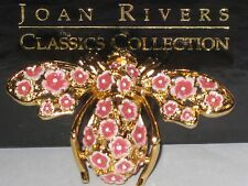 Joan Rivers Spring Season Cherry Blossom  Bee Pin ,Signed, new in box,pouch,card