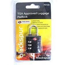 TSA Approved Blackspur Plastic Body Luggage Suitcase Padlock Safety Lock Pd1365