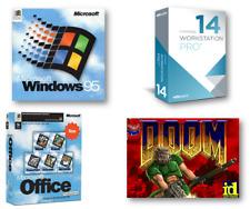 Windows 95 Win 95 Virtual PC, VMware 14 Pro fully loaded with Audio & SVGA