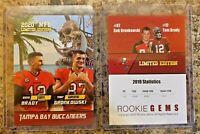 2020 Tom Brady & Rob Gronkowski Limited Edition Tampa Bay Buccaneers Card.