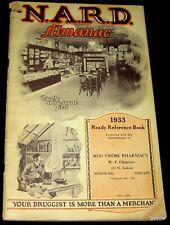 DRUG STORE 1933 NARD ALMANAC NATIONAL ASSOCIATION OF RETAIL DRUGGISTS ROSEBURG