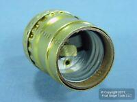 Leviton Polished Gilt Light Socket Lampholder Short Electrolier Keyless 9347-PG