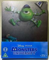 Monsters University STEELBOOK Blu Ray UK Disney SOLD OUT Sealed Limited Edition