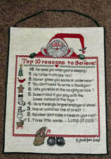 Top 10 Reasons To Believe in Santa ~ Christmas Tapestry Bannerette Wall Hanging