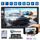 """Double 2 Din Car Stereo Radio 7"""" Touch Screen Bluetooth Backup Camera MP5 Player"""