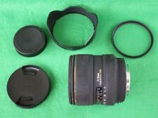Canon fit Sigma 17-35 mm F2.8-4.0 Ex DG HSM with lens hood and UV filter