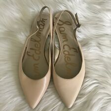 Sam Edelman Hadley Flat Shoes Ankle Strap Size 8.5 Beige Natural