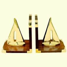 Maritime Buchstützen aus Holz/Messing - massiv 2000g