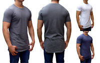 MENS TALL TEES TOP EXTRA LONG LENGTH SLIM FIT GYM FASHION SHIRT MUSCLE CAUSAL