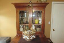 Antique Vintage NL Corp. Brass Hanging Gothic Chandelier Church Light #3103