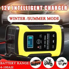 Car Battery Charger For Car And Motorcycle Repair LCD Lead Acid 12V 6A Pulse Kit