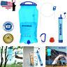 Survival Water Filter Straw Gravity Bottle Purifier Camping Hiking Emergency Kit