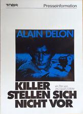 Killer stellen sich nicht vor Presseheft Trois Hommes a abattre Alain Delon, Dux