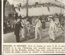 BERMUDES BERMUDA HAMILTON PETITE IMAGE SMALL CUT PRINT 1954