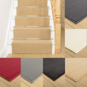 runrug Long Stair Carpet Runner Heavy Duty Washable Modern Plain