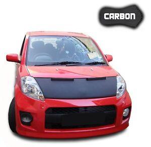 Hood Bra Daihatsu Sirion 2 CARBON Front End Car Mask Cover Bonnet protection