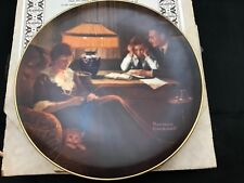 """Norman Rockwell Collector Plate w/Coa """"Father's Help�"""
