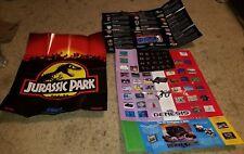 3 poster insert Lot Sega Genesis Jurassic Park, The Next Level, Tecmo Basketball