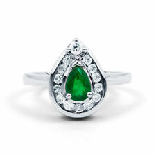 Emerald Cocktail Natural Stone Fine Rings