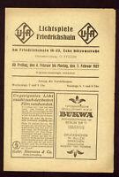 """Programmheft """"UFA Lichtspiele Friedrichshain"""" 1927  Riefenstahl & L.Trenker B117"""