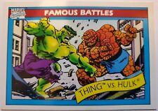SMACKDOWN! TITANS COLLIDE! 1990 MARVEL SERIES 1 HULK VS THING! PSA READY!