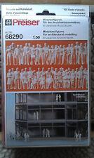 Preiser 68290, 60 unbemalte Figuren. Bausatz ; 1:50 Figuren