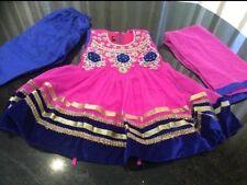 "18"" Age 1 Size Dress Bollywood Salwar Kameez Indian Girls Party Purple Blue"