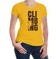 Damen Kurzarm Girlie T-Shirt Climbing Type Klettern Bergsteigen Klettersport