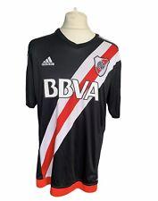 River Plate 2016-17 Away 3rd Football Shirt Adidas Black UK XL Carp Argentina