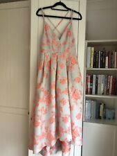 Asos pink rose midi dress size 8