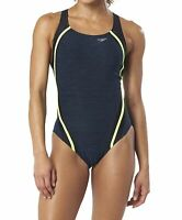 Speedo Womens Swimwear Blue Size 4 Creora Quantum Splice One-Piece $78 356