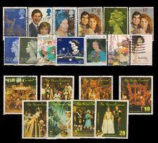 BRITISH ROYAL FAMILY 20 Different Stamps-Queen Elizabeth, K.G. VI-Royal Wedding