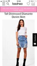 Tall Distressed Denim Skirt