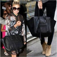 Fashion Womens Leather Tote Shopper Handbag Satchel Smile Bag Shoulder Purse