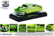 CANDY GREEN 1949 MERCURY GROUND POUNDER M2 MACHINES 1:64 SCALE DIECAST MODEL