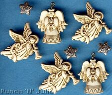 Paillettes Anges-Noël star ailes robe it up Craft boutons & embellissements