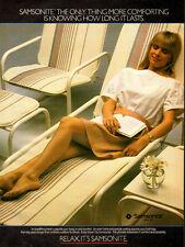 1983 magazine AD, SAMSONITE Outdoor Furniture, pretty model!  052714