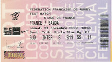 La France V Samoa 21 nov 2009 rugby ticket