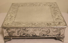 Grand Wedding Silver Square Cake Stand Plateau 14 Inch