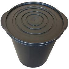 Seau + couvercle  noirs Plant It 20L 2 poignées pour fermenteur thé compost aéré