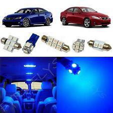 14x Blue LED lights interior package kit 2006-2013 Lexus IS250, IS350, ISF LI1B