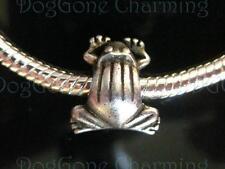 FROG   Solid 925 Silver Bead Antique Finish  European Big Hole CUSTOM