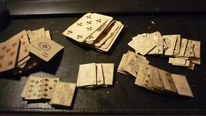 lot ancien jeu de cartes carton papier collé