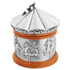 Royal Selangor Pewter Music Box Teddy Bears Merry Go Round Horses Carousel