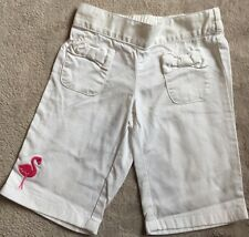 GYMBOREE white Cotton Pants Flamingo 000 GUC. 10 Items = $5 Post
