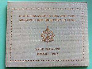 """Vatican 2013    2 Euro Commémorative """" Siège Vacant """"  BU"""
