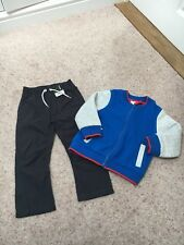 Brand New Navy Casual Trousers/ Full Zip Top Blue/ Grey 3-4 Years